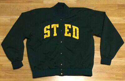 Vintage Medalist St. Edward OH Eagles Sand Knit Wrestling Warm Up Jacket Size 50 Medalist Warm Up Jacket