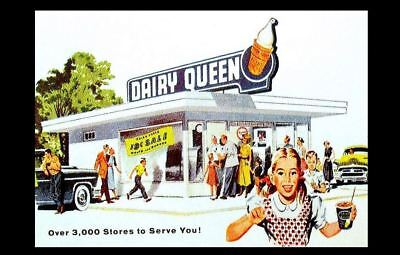 Dairy Queen Diner PHOTO Vintage Restaurant Ad Sign Burger Joint Shakes Ice Cream