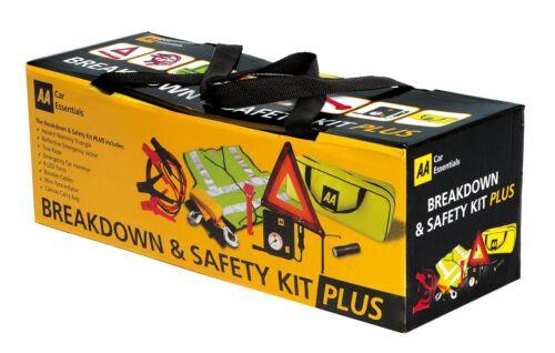 AA Breakdown & Safety Kit Plus Car Travel Essentials Emergency Pack