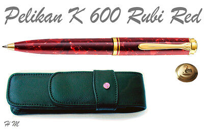 PELIKAN K 600 /K600 SOUVERAN NEW Ballpoint Pen Ruby-Red Special Edition +POUCH