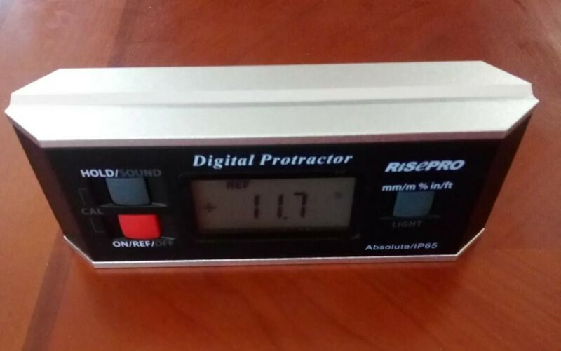 Inclinometer RISEPRO Digital Protractor Angle Finder Level Inclinometer