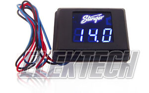 Stinger-SVMB-Voltmeter-3-Digit-Blue-LED-Voltage-Display-Gauge-Voltage-Meter-NEW