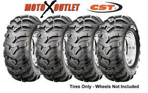 Honda Atv Rancher Tires 24X8-12 24x10-11 CST MAXXIS ANCLA Set of 4x4 350 400 420