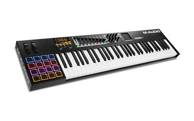 M-Audio Code 61- 61-Key USB MIDI Keyboard Controller with X Y Touch Pad -  Black 61f802da666b9
