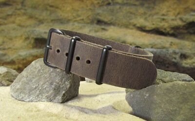 - The Ballistic Leather Strap w/ PVD Hardware By NATO Strap Co.(℠)
