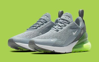 Nike Women's Air Max 270 Athletic Shoes Cool Gray Lime Green  AH6789-404 NEW Medium Cool Green