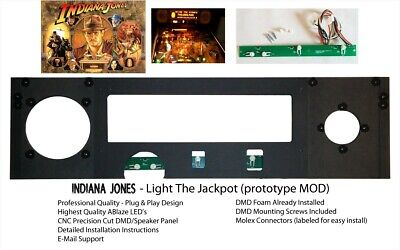 Indiana Jones Pinball Light The Jackpot Speaker Panel MOD