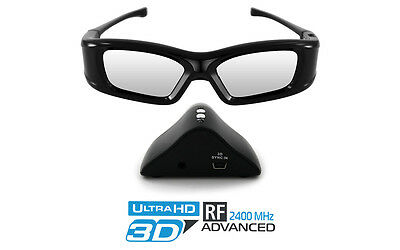"Hi-SHOCK® Advance RF 3D Kit für Optoma 3D System + ""Black Onyx"" Brille & Emitter"