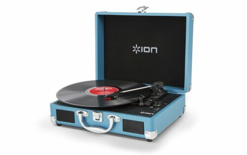 Ion Audio Vinyl Motion Rechargeable Suitcase Turntable with Built-In Speakers
