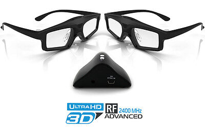 Hi-SHOCK 3D-RF System für Optoma / Mitsubishi Beamer inkl. 2x Brille + Emitter