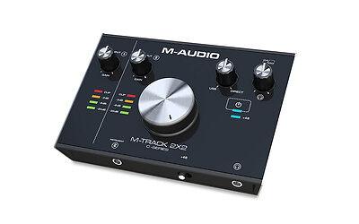 M-AUDIO M-TRACK 2X2 INTERFACCIA SCHEDA AUDIO USB MIDI Cubase LE Compreso PC MAC