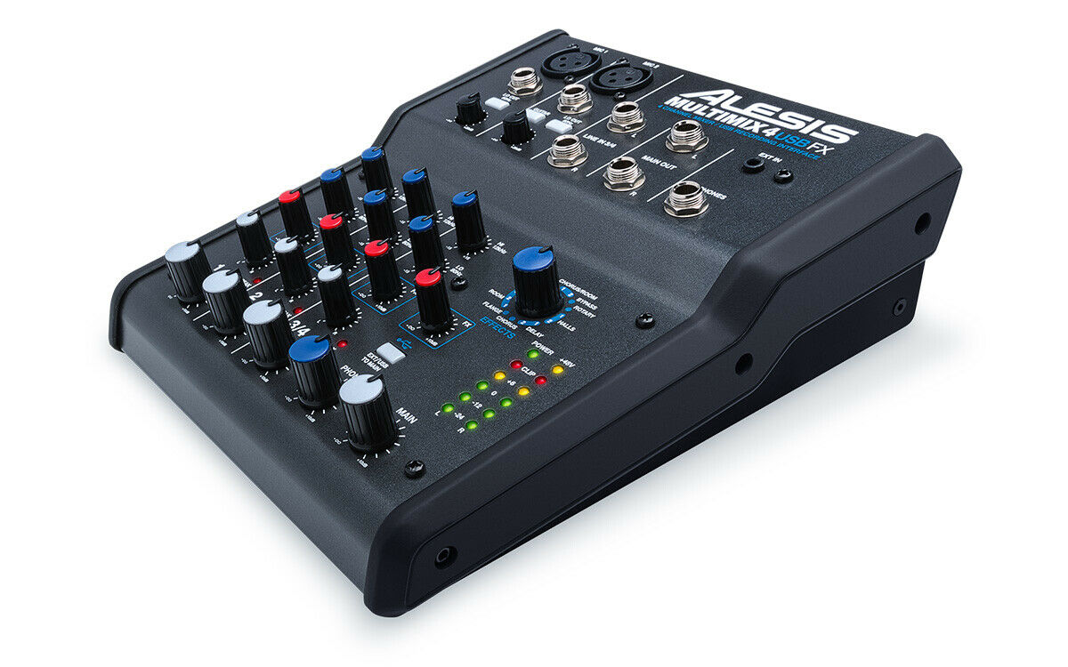 Alesis MULTIMIX4USBFX 4-Channel Mixer with Effects & USB Aud