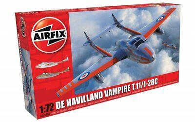 Airfix - DE Havilland DH Vampire T.11 / J-28C Schweden Modell-Bausatz 1:72 kit