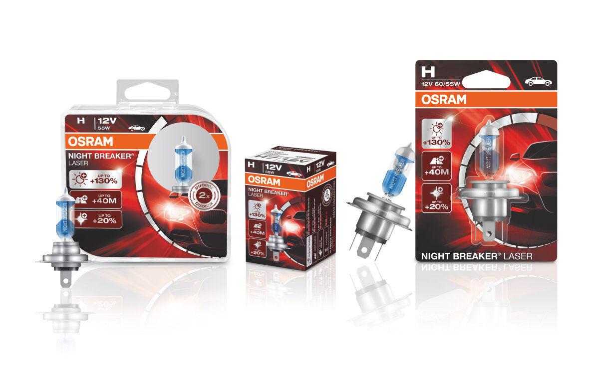 2x OSRAM Night Breaker H1 H4 H7 H8 H11 D1S D2S D3S 110-130% Halogen Xenon LED