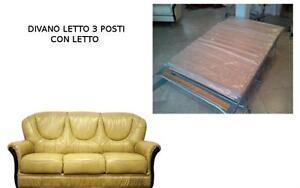 Salotto Letto Divano Classico in Vera Pelle 3 Posti Prezzo Speciale Scorniciato  eBay