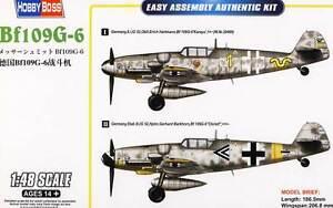 HobbyBoss Messerschmitt Me-Bf-109G-6 Hartmann Barkhorn - 1:48 Modell-Bausatz kit