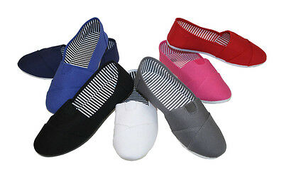 Women Canvas Slip-on Flats Assorted Colors With Soft Sole @ Best Price Style1101
