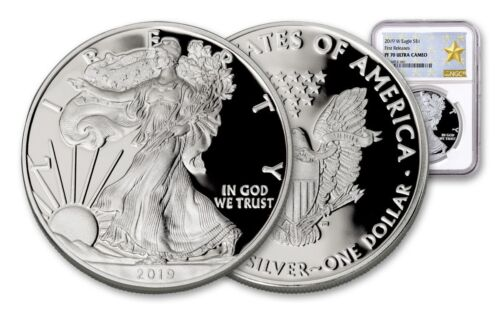 2019-W Silver American Eagle NGC PF-70 FR UCAM GS 1 oz 999 Silver Coin