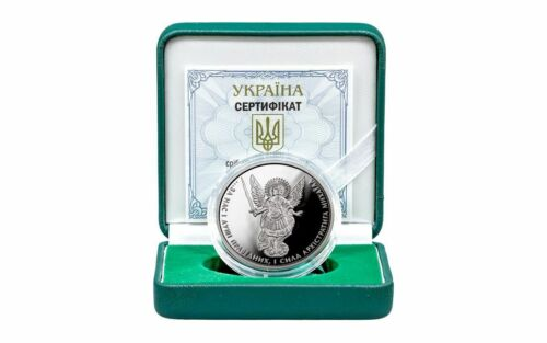 2017 UKRAINE 1 OZ ARCHANGEL MICHAEL SILVER PROOF COIN WITH BOX & COA