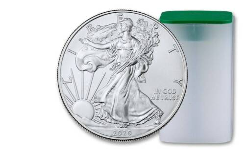 PRE-SALE - 2020 1 OZ. SILVER EAGLE COIN ***FIRST STRIKE*** FROM A U.S. MINT TUBE