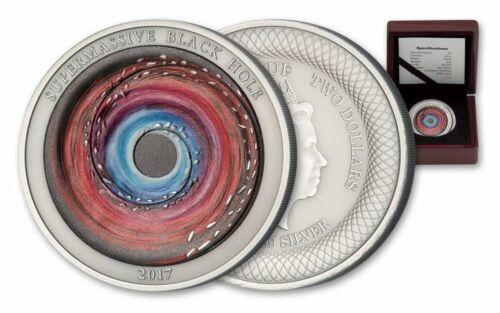 2017 Niue $2 1oz Silver Supermassive Black Hole Prooflike COA & Box