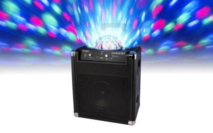 ION AUDIO BLOCK PARTY PORTABLE SPEAKER SYSTEM BATTERY LIGHTS Sydney City Inner Sydney Preview