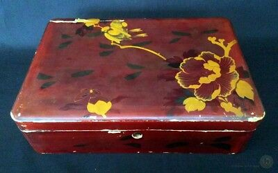 Antique Oriental Lacquered Box For Restoration 28cm Long | FREE Delivery UK*