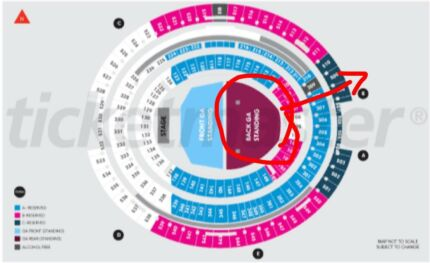 For sale Ed Sheeran GA Standing back on March 3rd Perth stadium