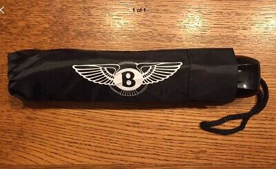 Black Bentley Compact Brolly (not Umbrella!) Fits Glove Box: Christmas Gift