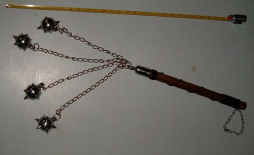 4 Ball Spike Ball Battle Mace, Flail ,Medieval Weapon ,Renasence, FREE SHIPPING