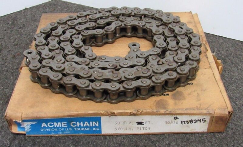 """ACME CHAIN 50 PIV., 77""""OAL, 5/8"""" PITCH, ROLLER CHAIN"""