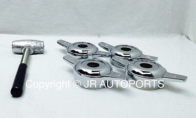 4 Zenith 2 Bar 2 Way Cutout Knock Offs Spinners Chrome Wire Wheel Lead Hammer for sale  Shipping to Canada