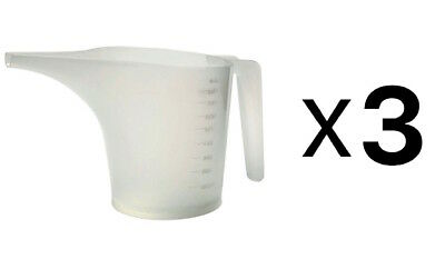 Norpro Plastic Measuring Funnel Pitcher, 3 ½ Cup Capacity (Pack of 3)