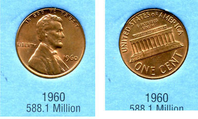 1960 P ABE Lincoln Memorial AMERICAN PENNY 1 CENT US U.S AMERICA ONE COIN #B2 for sale  Westlake