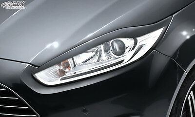 FORD Fiesta MK7 JA8 JR8 (2012+) Facelift Headlight covers Eye Brows ABS