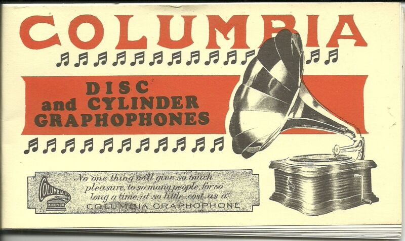 Columbia Disc and Cylinder Graphophones Phonograph Catalog