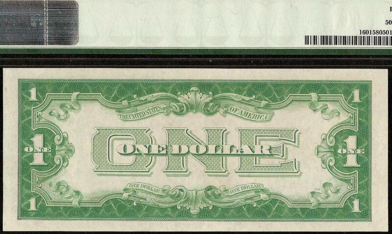 1928 A $1 DOLLAR BILL SILVER CERTIFICATE FUNNYBACK NOTE OLD PAPER MONEY PMG 58