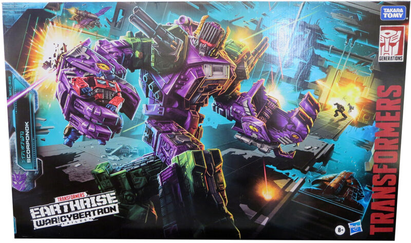 Transformers Earthrise War For Cybertron Figure Titan Class Scorponok IN STOCK