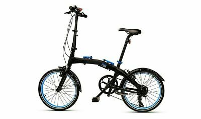 "Genuine BMW Folding Bike Aluminium Frame 20"" Wheel Black Blue - 80912447964"