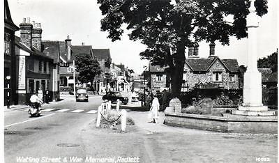 Radlett War Memorial Nr St Albans unused RP old postcard  Photo Precision