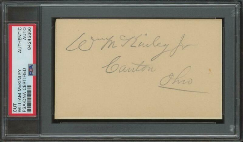 President WILLIAM McKINLEY (1843-1901) autograph cut | PSA/DNA certified signed