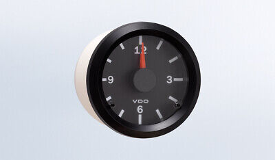 "VDO gauge clock, genuine Cockpit 370-155, 2-1/16""/52mm, 12/24V dual system"
