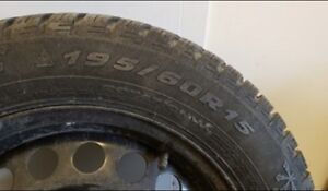 Winter tires and rims 195/60/15