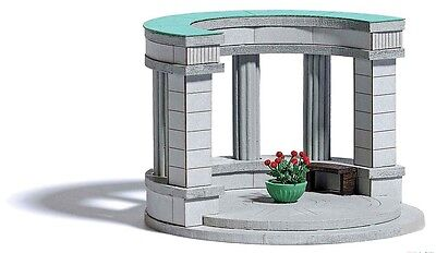 NEW RELEASE HO Busch #1568 COLONNADE (Arched Arch) Kit for Cemetery Diorama