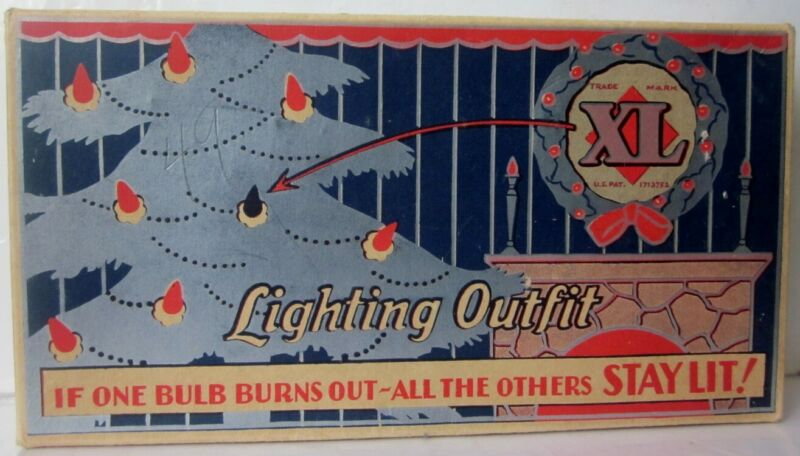 Vintage 1929 XL Lighting Outfit Christmas Light Set In The Box