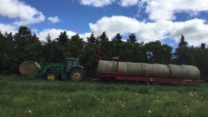 Hay for sale/custom feeding cows