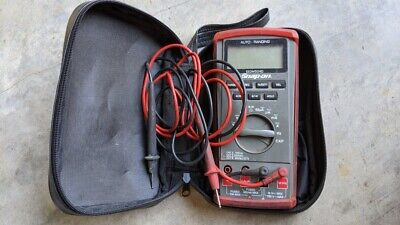 Snap-on Auto-range Digital Multimeter Eedm504d With Case And Alligator Clips