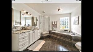 Vanité salle de bain 60 pouces lavabo robinet