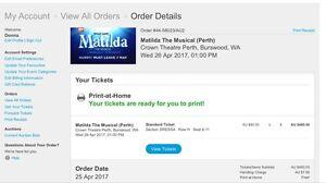 Matilda the musical tickets Glen Forrest Mundaring Area Preview