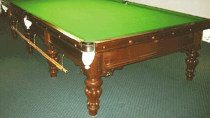 Full size billiard table - Heiron and Smith